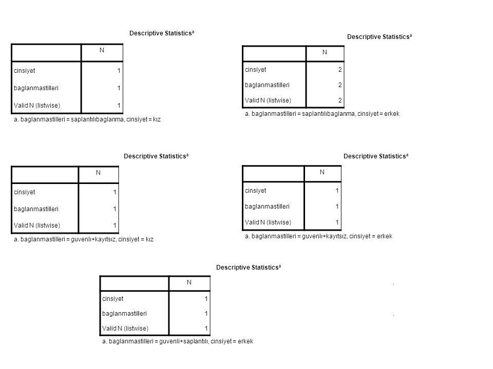 Descriptive Statistics a N. cinsiyet1 baglanmastilleri1.
