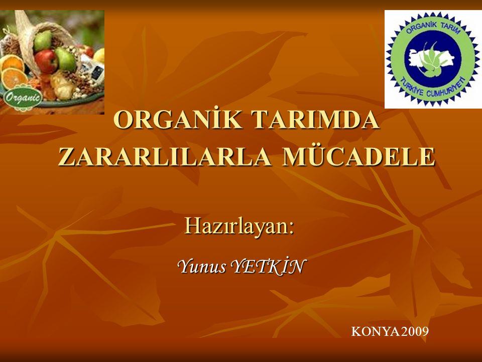 1.Giriş Organik tarım son yıllarda bütün ülkelerde hızla gelişim gösteren bir tarım sistemidir.
