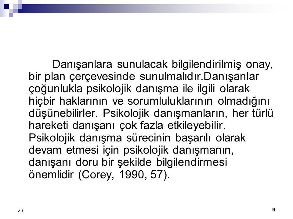 20 29 KAYNAKÇA American School Counselor Association, Code of Ethics, Aydın,.