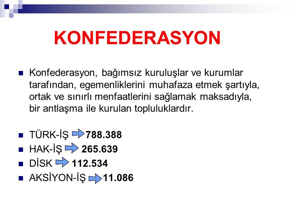 TÜRK METAL SENDİKASI (166,250) Türk Metal, 10 Temmuz 1963 tarihinde Türkiye Metal İş Federasyonu adıyla kuruldu.
