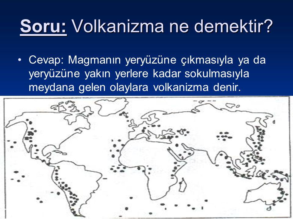 10 Şubat 2016 Çarşamba10 Şubat 2016 Çarşamba10 Şubat 2016 Çarşamba10 Şubat 2016 Çarşamba19 Soru: Volkanizma ne demektir? Cevap: Magmanın yeryüzüne çık
