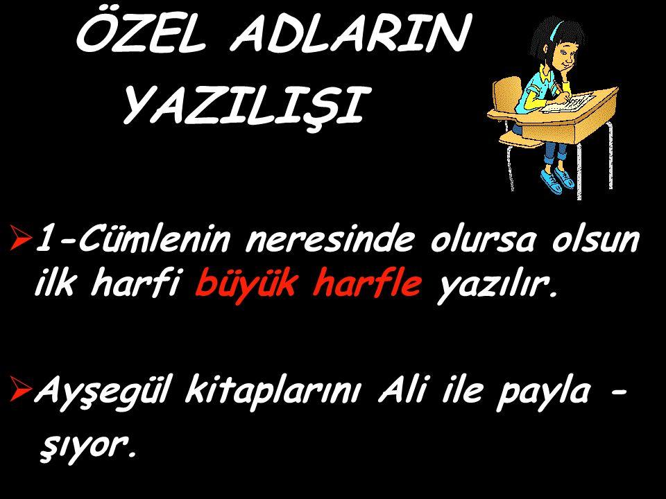 Tek bir varlığa ad olan kelimelere ÖZEL AD denir ATATÜRK - Gamze – Ali Özel İzmir Sev İlköğretim Okulu ATATÜRK – Türk – Türkiye