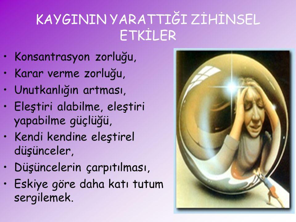 SINAV KAYGISINI ARTIRAN BAŞLICA ETMENLER