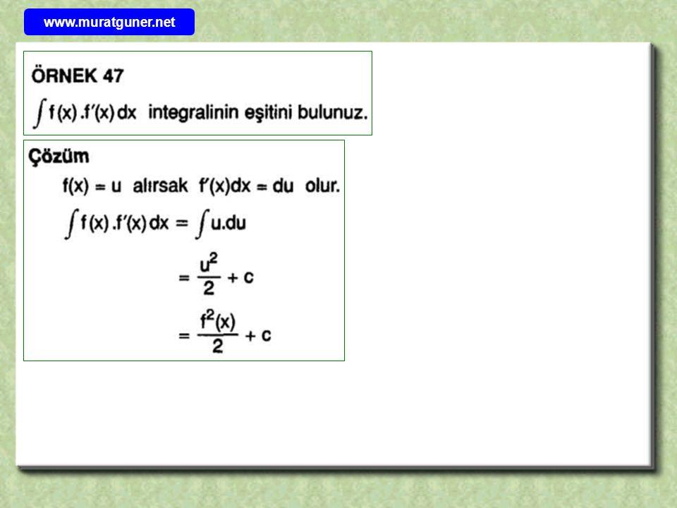 Bu sorunun çözümü kısmi integral yöntemi ile ancak 2 aşamada bulunabilir.Hatta integral sembolü içindeki x 2 ifadesi x 4 olsaydı o zaman dört defa kısmi inregral uygulanması gerekecekti.Bu nedenle böyle sorularda aşağıdaki pratik yolu izlemek sağlığınız için faydalı olacaktır….