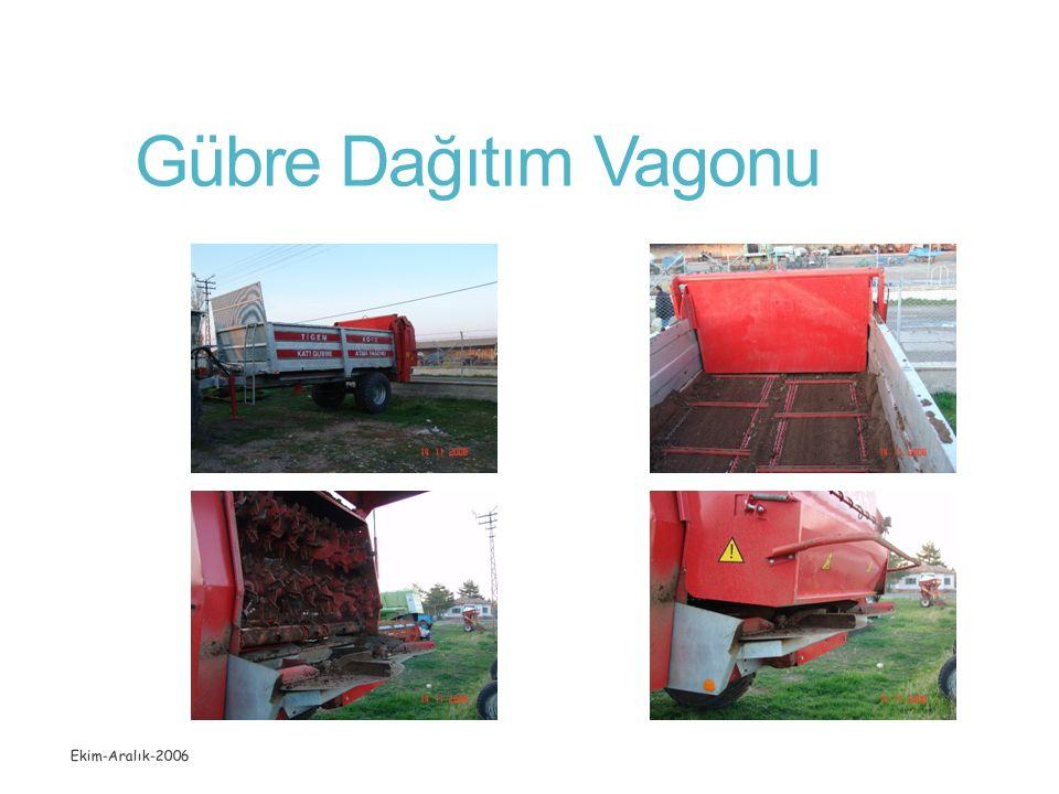 Gübre Dağıtım Vagonu Ekim-Aralık-2006