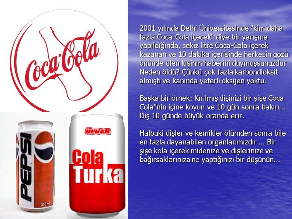 Peki nedir bu Cola nin bu kadar etkileyici temizliklerde bile kullanılabilmesinin sebebi.
