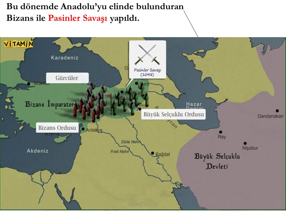 Pasinler Savaşı(1048) Nedeni Bizans'ın Türk akınlarını sona erdirmek istemesi.
