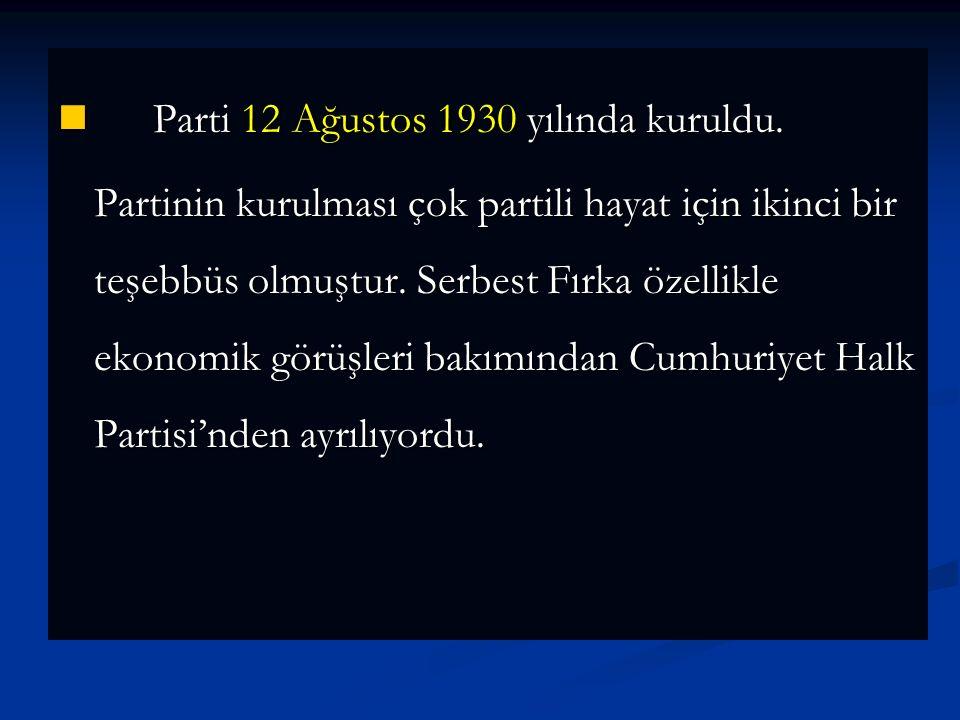 Mustafa Kemal yeni bir parti kurulması görevini o sırada Paris Büyükelçiliği vazifesinde bulunan Fethi Beye verdi.