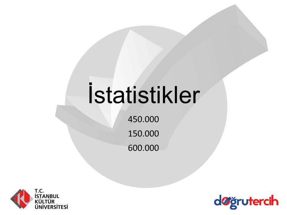 İstatistikler 450.000 150.000 600.000