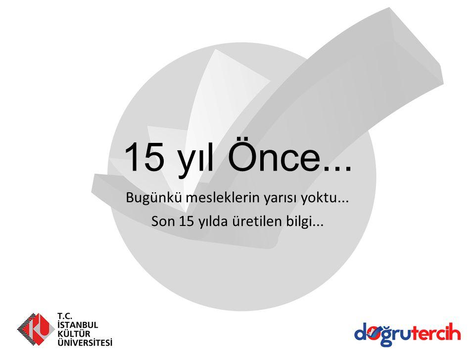 15 yıl Önce... Bugünkü mesleklerin yarısı yoktu... Son 15 yılda üretilen bilgi...