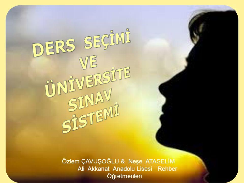 30/05/12 Özlem ÇAVUŞOĞLU & Neşe ATASELİM Ali Akkanat Anadolu Lisesi Rehber Öğretmenleri