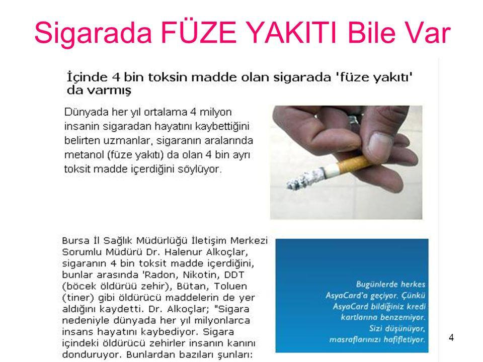 Sigarada FÜZE YAKITI Bile Var 4
