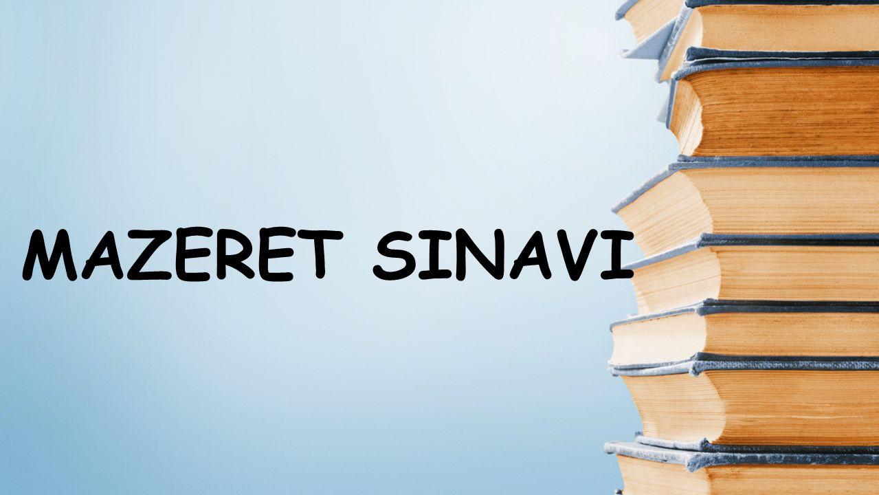 MAZERET SINAVI