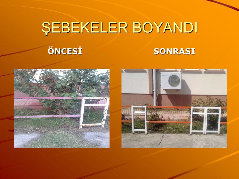 ŞEBEKELER BOYANDI ÖNCESİSONRASI