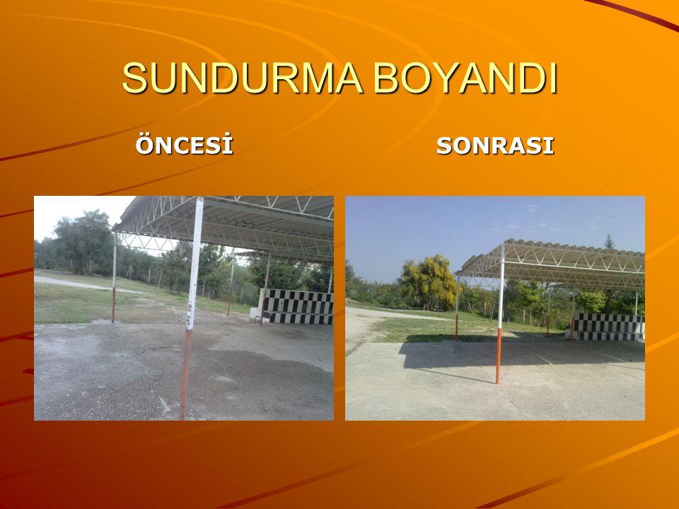 SUNDURMA BOYANDI ÖNCESİSONRASI