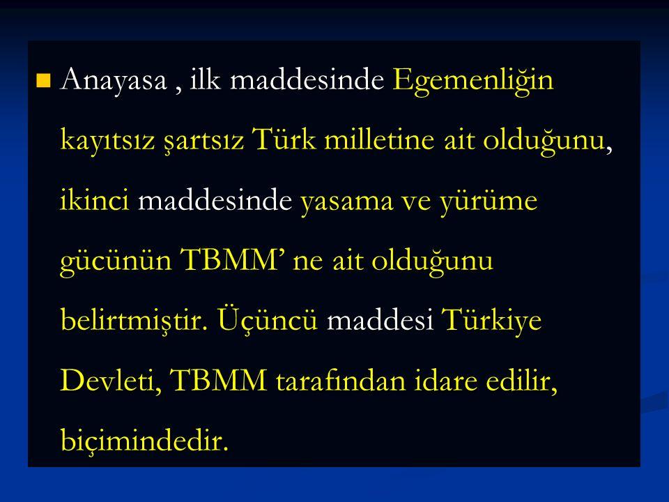 20 Ocak 1921 Anayasası I.inönü Muharebesi'nin kazanılmasından yararlanan Mustafa Kemal hazırlanan Anayasa'yı TBMM' ne kabul ettirmiştir. Bu Anayasa 23