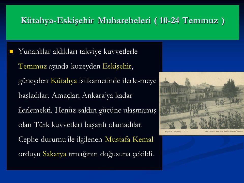 II. İnönü Muharebesi'nin kazanılması umutları daha da artırdı. Bu muharebeden sonra İtalyanlar Anadolu'dan çekilmeye başladılar. II. İnönü Muharebesi'