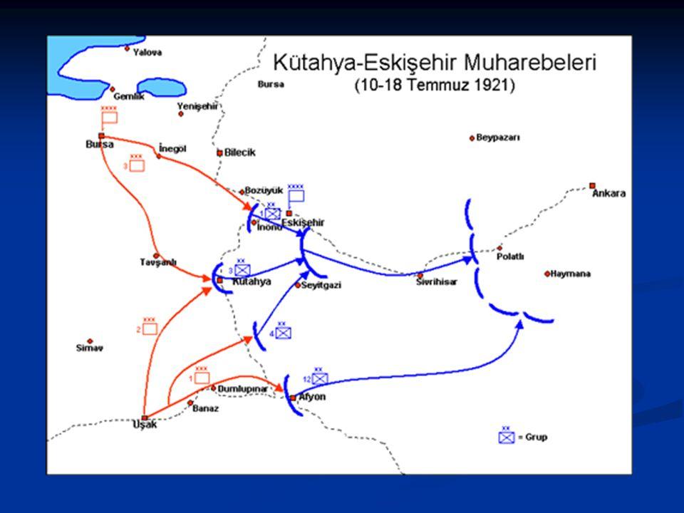 Kütahya-Eskişehir Muharebeleri ( 10-24 Temmuz ) Yunanlılar aldıkları takviye kuvvetlerle Temmuz ayında kuzeyden Eskişehir, güneyden Kütahya istikameti