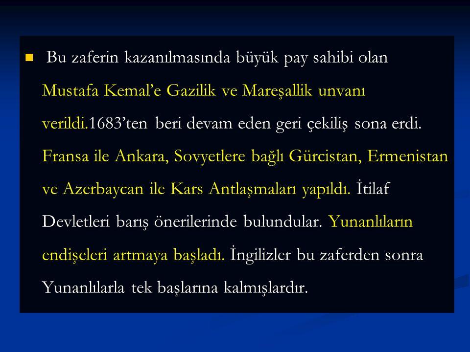 Yunanlılar 14 Ağustos'ta ilerlemeye başladılar.23 Ağustos'ta çarpışmalar başladı.22 gün,22 gece süren Muharebelerde başarılı olamayan Yunanlılar, Saka