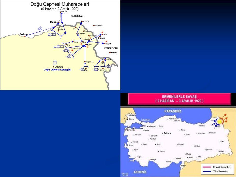 Ermenilerle Savaş ve Gümrü Antlaşması Wilson ilkelerine göre Doğu Anadolu'da pay almak isteyen Ermeniler, derhal işgal hareketine girişerek, Gümrü, Aç