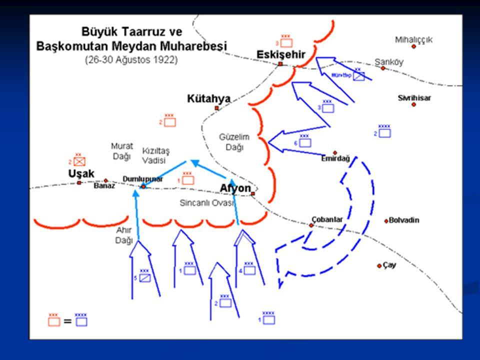 Büyük Taarruz ve Başkomutanlık Meydan Muharebesi (26 Ağustos-18 Eylül 1922) Büyük Taarruz ve Başkomutanlık Meydan Muharebesi (26 Ağustos-18 Eylül 1922