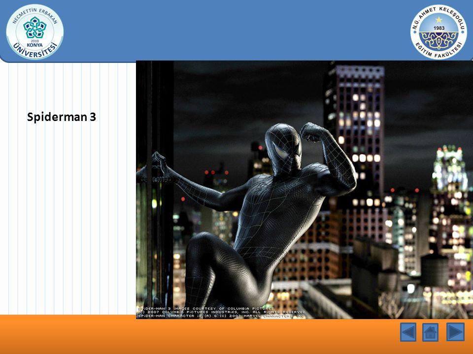 KONU BAŞLIĞI Spiderman 3