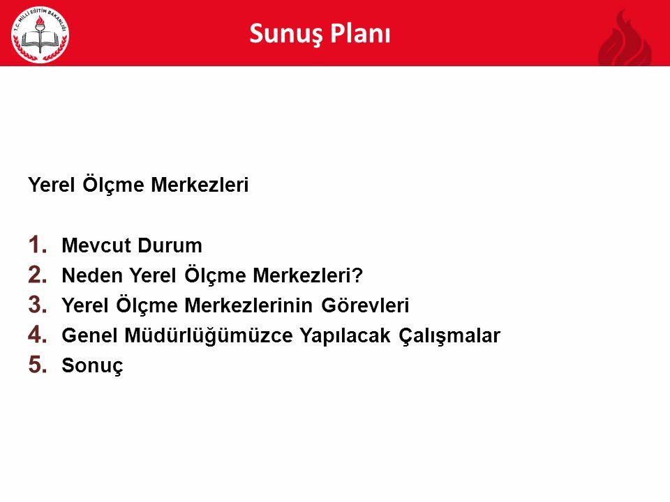 Sunuş Planı Yerel Ölçme Merkezleri 1.Mevcut Durum 2.