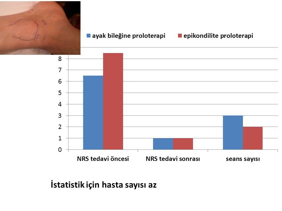 İstatistik için hasta sayısı az