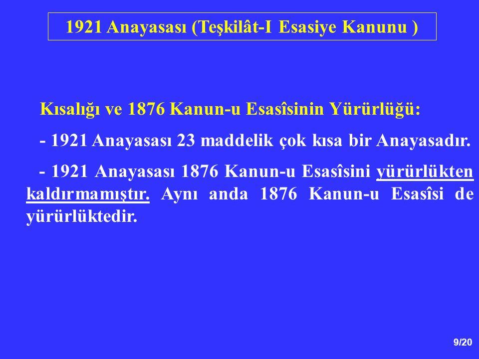 70/20 1961 Anayasasının Uygulanması 12 Mart Muhtırası: - Ülkede 1960'ların sonlarına doğru siyasal şiddet olayları arttı.