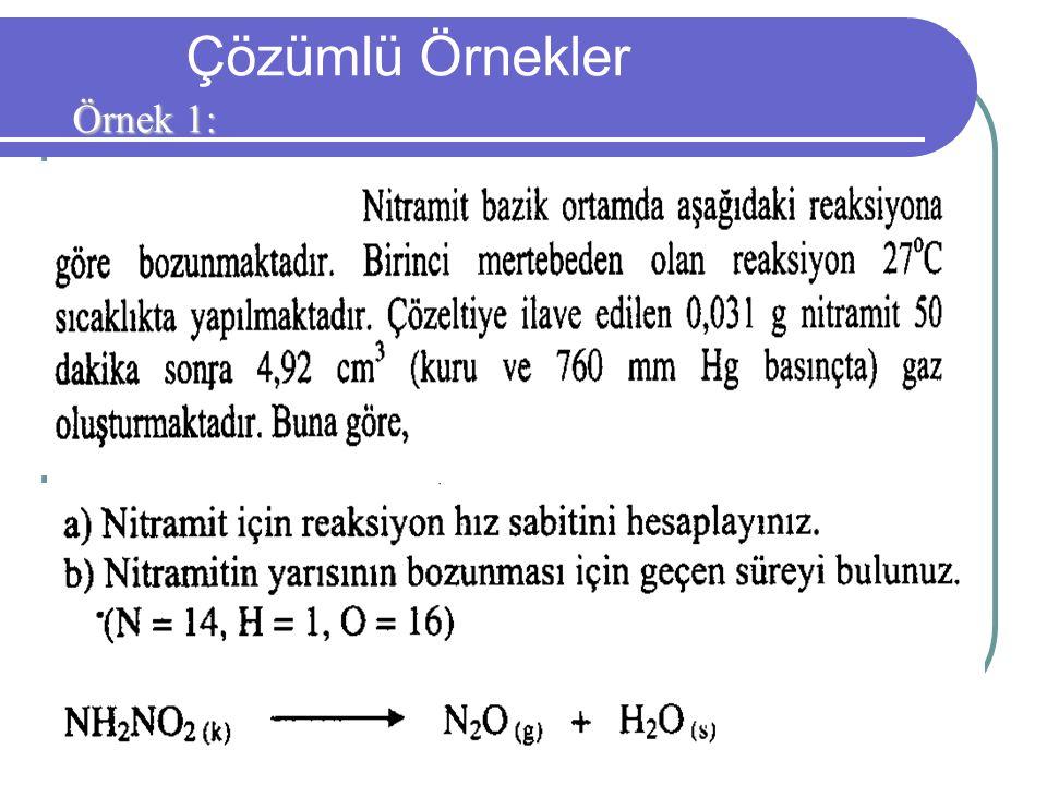 29 Çözümlü Örnekler Örnek 1: