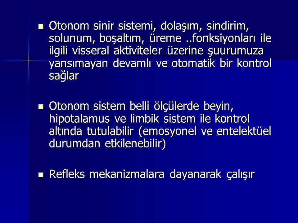 PARASEMPATİK BÖLÜM PARASEMPATİK BÖLÜM Kolinerjik Sistem Kraniyo-Sakral Sistem (kranium, 3,7,9,10.
