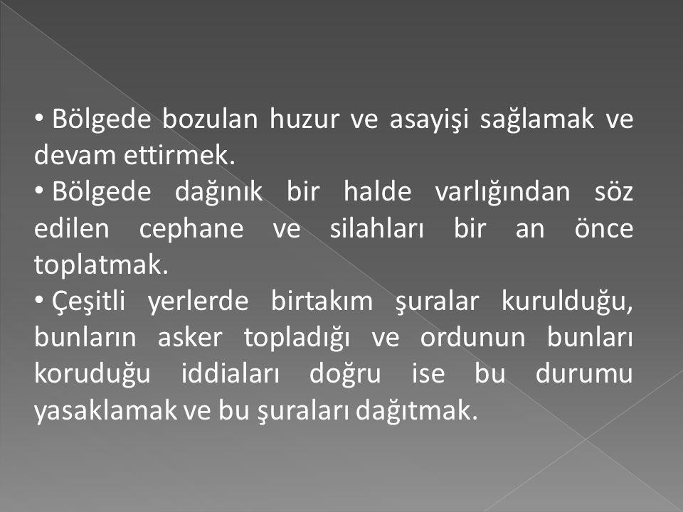 30 Nisan 1919'da 9. Ordu Kıtaları Müfettişliğine atanan Mustafa Kemal Paşa'nın görev bölgesi, Trabzon, Erzurum, Sivas, Van, Erzincan ve Samsun olarak