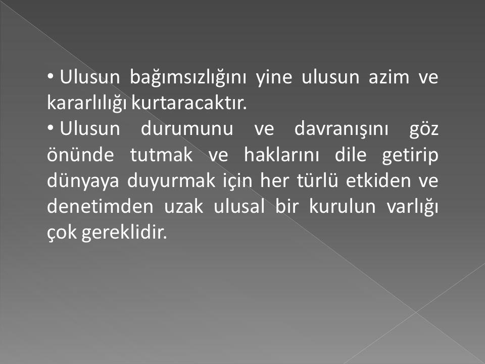 Anadolu'daki ihtilalın başlangıç bildirisi de sayılan ve askeri-sivil yöneticilere gönderilen Genelge'de yer alan hükümler şunlardır; Yurdun bütünlüğü