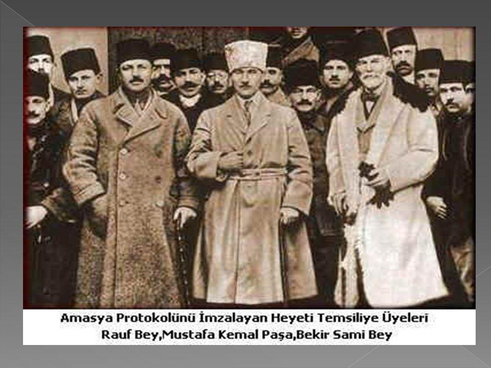 Amasya Genelgesi ile M. Kemal'in niyetinin İstanbul katında iyice anlaşılması üzerine, İçişleri bakanı Ali Kemal, 23 Haziran 1919'da yayınladığı genel