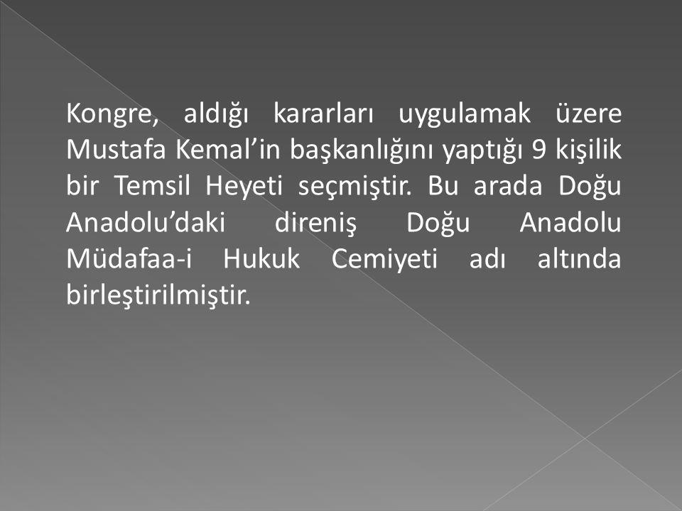 Yabancı devletlerin manda ve himayesi kabul edilemez. Osmanlı Mebusan Meclisinin hemen toplanmasını, hükümet işlerinin meclis denetiminde yürütülmesin