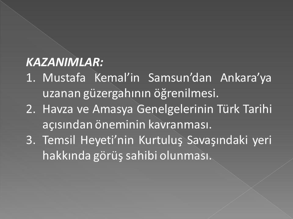 İÇİNDEKİLER 1. Mustafa Kemal Paşa'nın Anadolu'ya Geçmesi 2. Havza Genelgesi 3. Amasya Genelgesi 4. Erzurum Kongresi 5. Sivas Kongresi 6. Amasya Görüşm