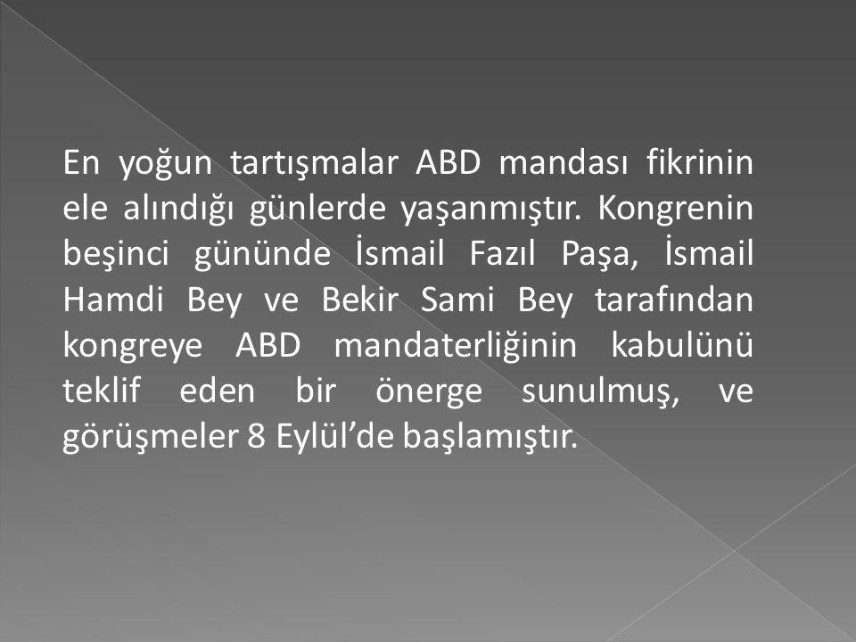 Her türlü engellemelere rağmen, Sivas Kongresi 4 Eylül 1919'da toplanmıştır. Parasızlık, İstanbul hükümetinin tahditleri gibi sebeplerden dolay kongre