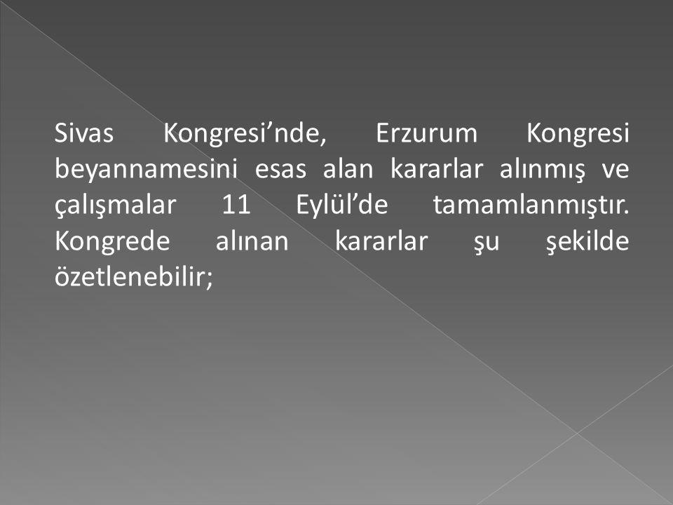 Bu görüşmelerde manda fikrinin daha çok İstanbul'dan gelen delegelerce savunulduğu görülmüştür. Bu tavır Anadolu delegelerinden şiddetli tepki görmüş