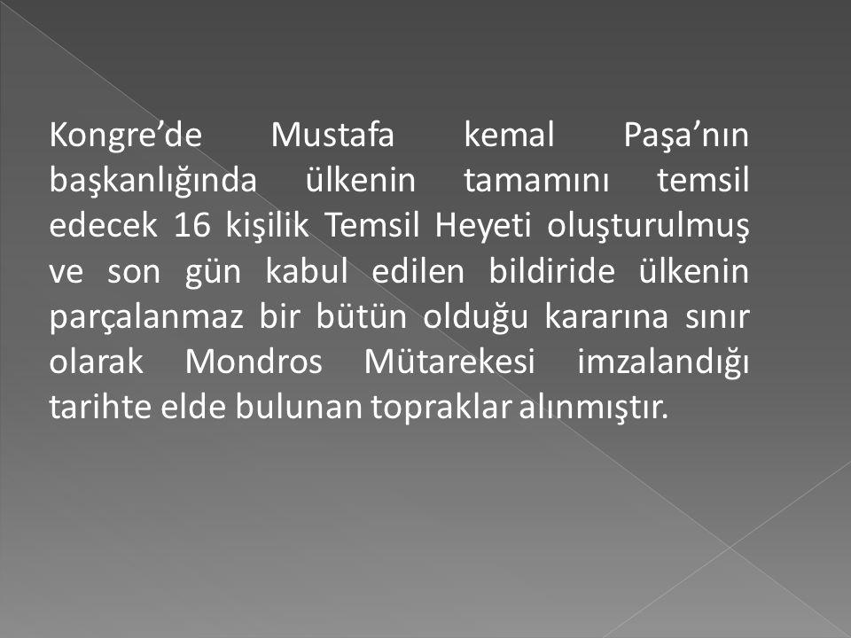 Mustafa Kemal Atatürk ve Sivas Kongresine Katılan Arkadaşları