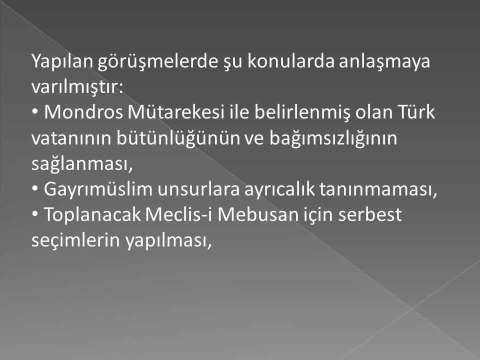 20-22 Ekim 1919 tarihinde gerçekleşen Amasya Görüşmelerinde Temsil Heyet'ini Mustafa Kemal Paşa, Bekir Sami Bey ve Rauf Bey temsil ederken, İstanbul H