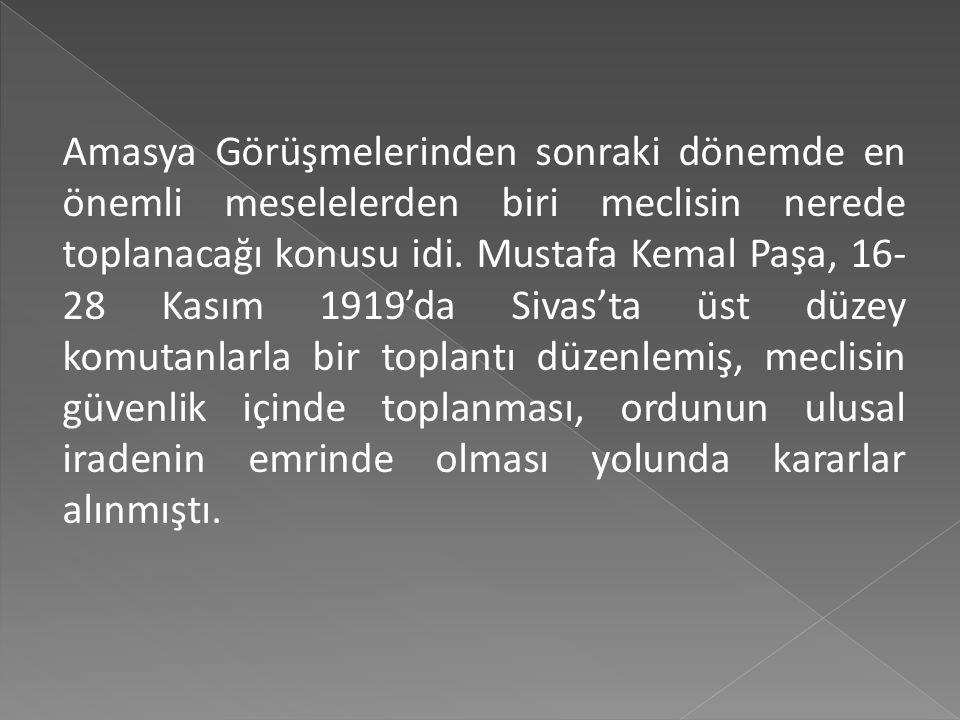 Anadolu ve Rumeli Müdafaa-i Hukuk Cemiyeti ile Temsil Heyeti'nin İstanbul Hükümeti tarafından yasal bir örgüt olarak kabul edilmesi, İstanbul Hükümeti
