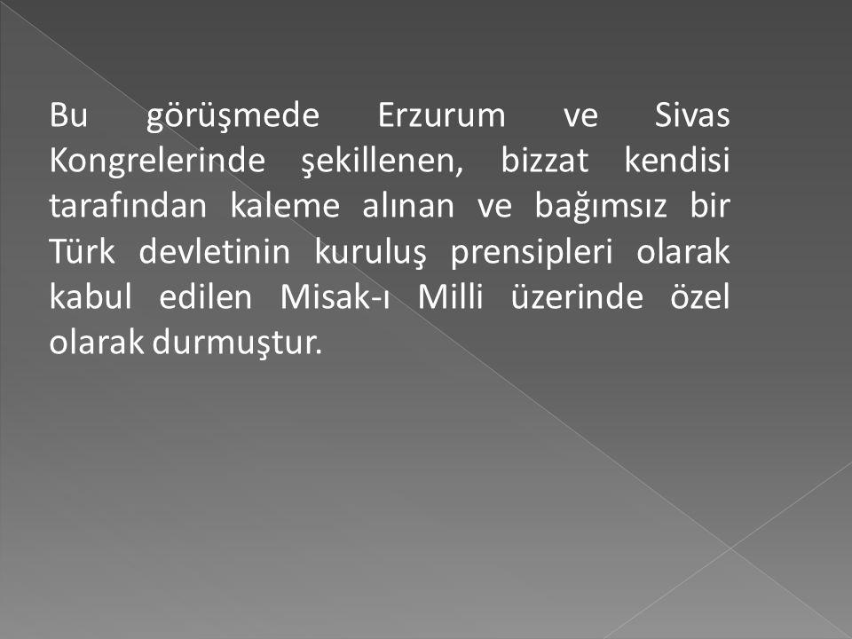 Mustafa Kemal, Anadolu ve Rumeli Müdafaa-i Hukuk Cemiyeti adına seçimlere katılan ve Meclis-i Mebusan'a milletvekili olarak seçilenlerle İstanbul'a ha