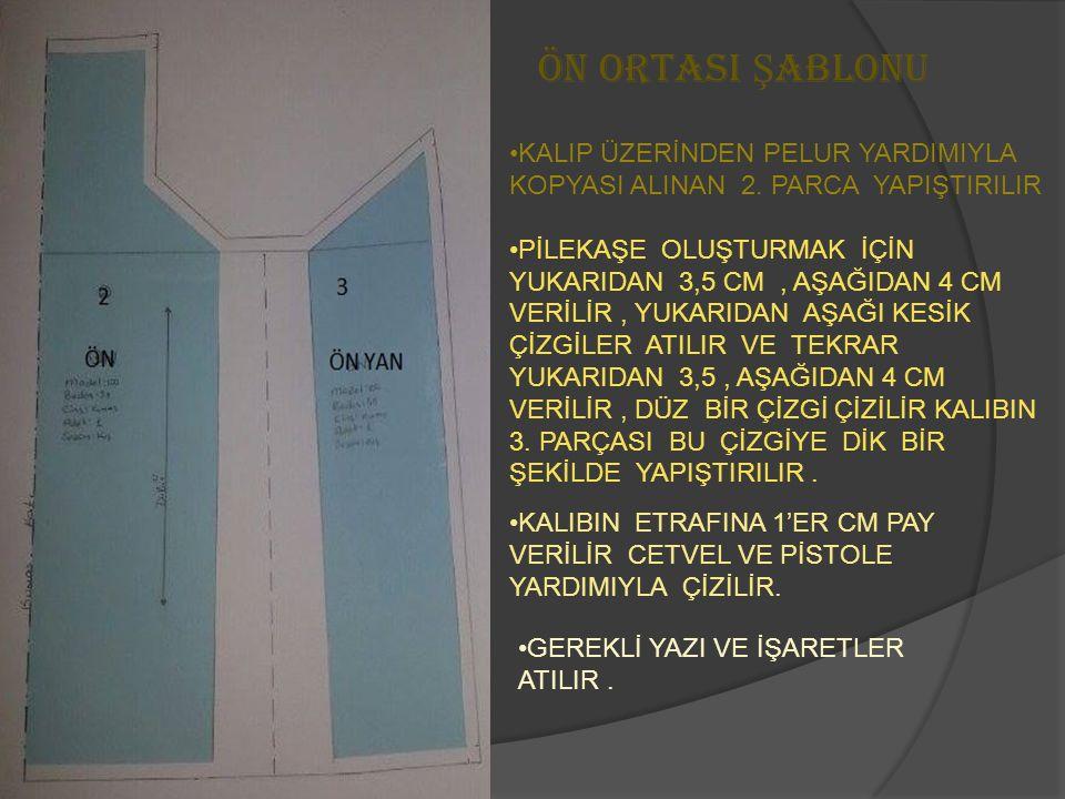 ÖN ORTASI Ş ABLONU KALIP ÜZERİNDEN PELUR YARDIMIYLA KOPYASI ALINAN 2.