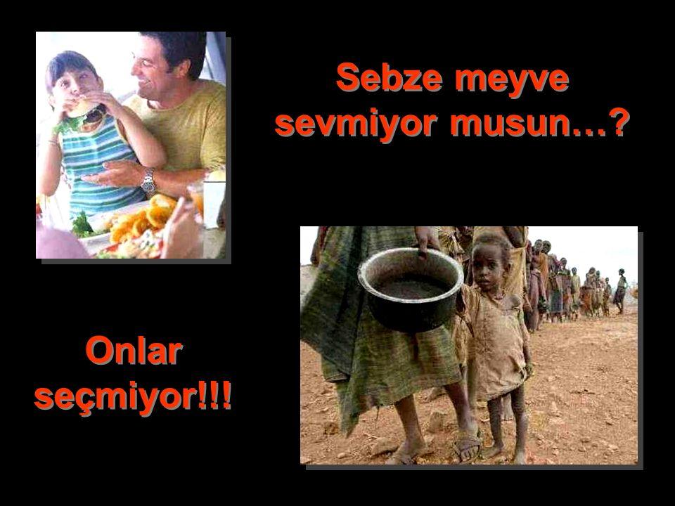 Diyet mi yapıyorsun...? Onlar açlıktan ölmekte!!!