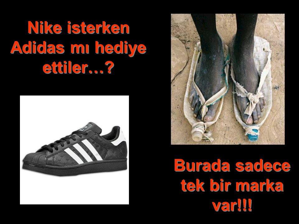 Nike isterken Adidas mı hediye ettiler…? Burada sadece tek bir marka var!!!