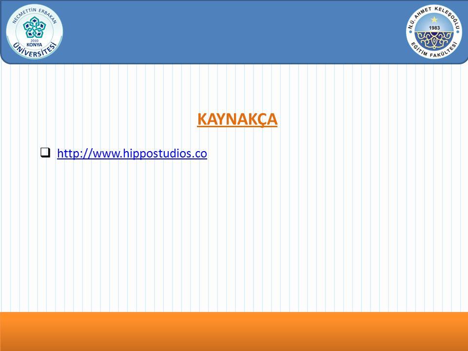 Dersin Adı bu köşeye yazılacak KAYNAKÇA  http://www.hippostudios.co http://www.hippostudios.co