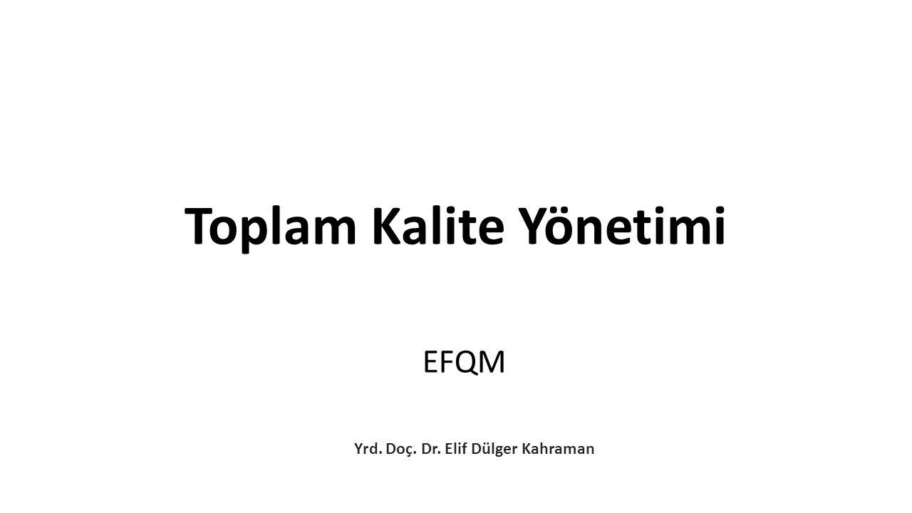 EFQM Yrd. Doç. Dr. Elif Dülger Kahraman Toplam Kalite Yönetimi