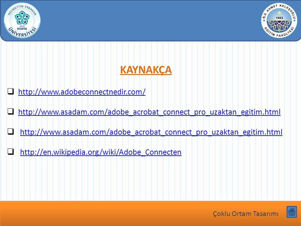 Dersin Adı bu köşeye yazılacak KAYNAKÇA  http://www.adobeconnectnedir.com/ http://www.adobeconnectnedir.com/  http://www.asadam.com/adobe_acrobat_co