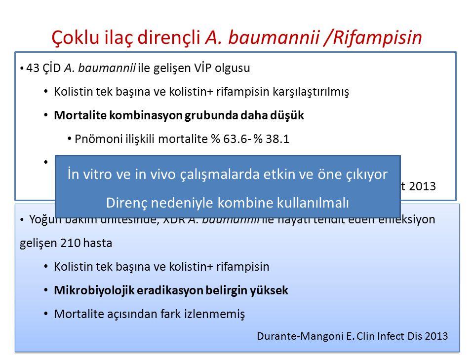 Çoklu ilaç dirençli A.baumannii /Rifampisin 43 ÇİD A.