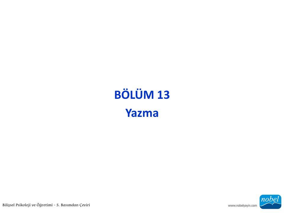 BÖLÜM 13 Yazma